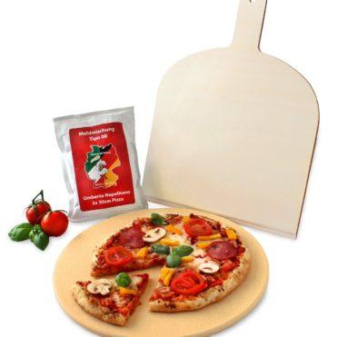 Vesuvo Pizzastein aus Cordierit 32cm rund inkl. Pizzaschaufel